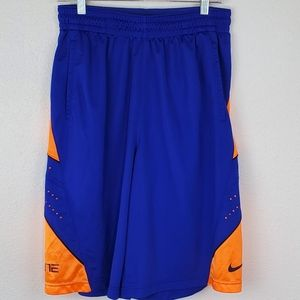 NIKE Dri-Fit Blue & Orange ELITE Shorts, size L